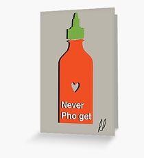 Never PhoGet Greeting Card