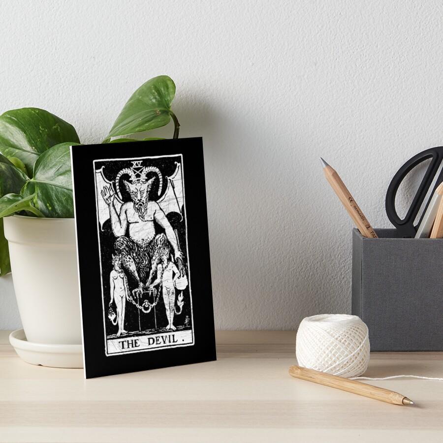 The Devil Tarot Card - Major Arcana - fortune telling - occult by createdezign