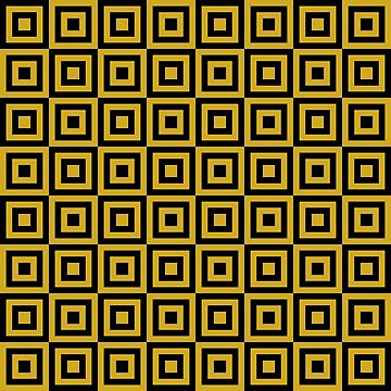 Geometric Pattern: Square Strobe: Yellow by redwolfoz