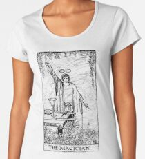 The Magician Tarot Card - Major Arcana - fortune telling - occult Women's Premium T-Shirt