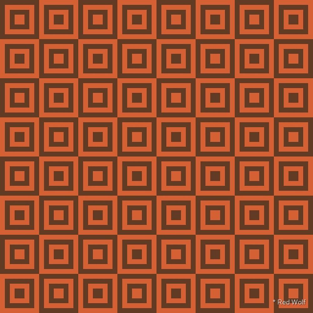 Geometric Pattern: Square Strobe: Orange by * Red Wolf