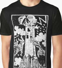 The Tower Tarot Card - Major Arcana - fortune telling - occult Graphic T-Shirt