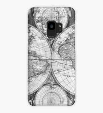 Black and White World Map (1685) Case/Skin for Samsung Galaxy
