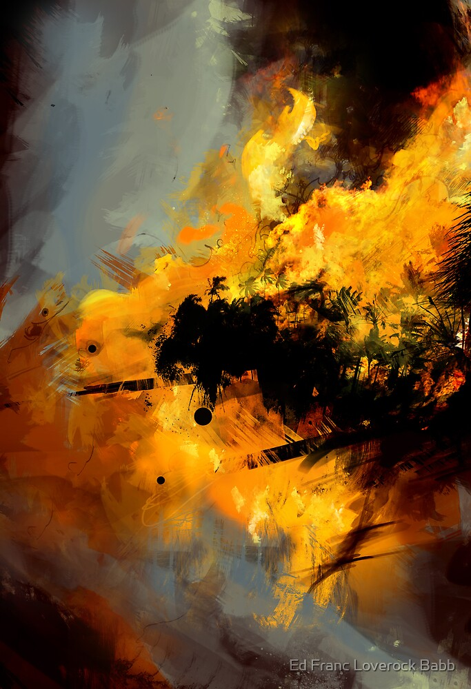 Palm tree Inferno by Ed Franc Loverock Babb