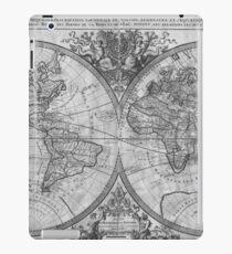 Black and White World Map (1691) iPad Case/Skin