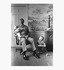 President Lyndon B. Johnson Singing with Yuki Photographic Print
