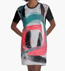 blue meets pink on a cloudy day Graphic T-Shirt Dress