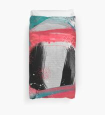blue meets pink on a cloudy day Duvet Cover