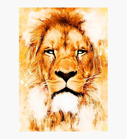 lion art #lion #animals Photographic Print