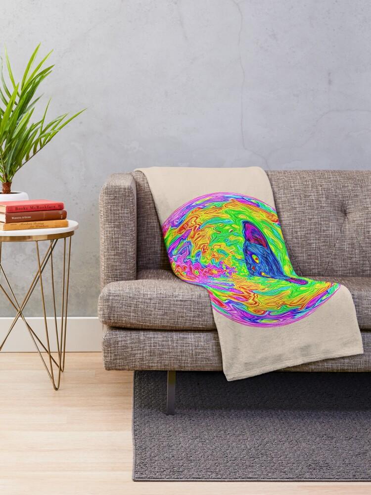 Alternate view of Unidentified Flying CatBat Throw Blanket