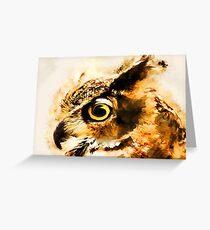 Owl art #owl #animals Greeting Card