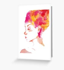 Woman I want some color Greeting Card