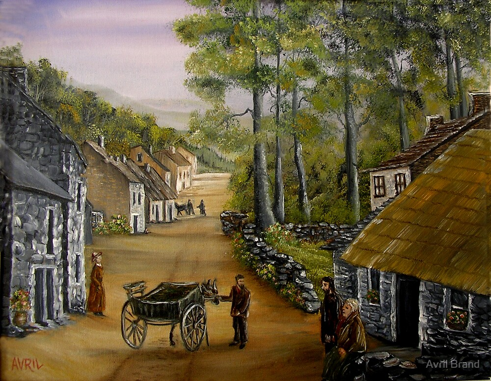 Old Irish Village by Avril Brand