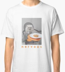 Nervous Dinner with White Dog Classic T-Shirt
