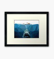 Polygon Jaws Framed Print