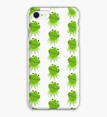 Kermit the frog sticker iPhone Case/Skin