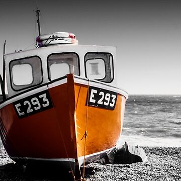 Fishing Boat on a Beach by Spartanbass
