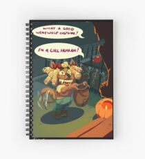 Werewolves trick and treat too Spiral Notebook