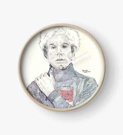 Andy Warhol pop art soup artist pointillism Clock