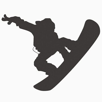 Snowboarder in flight by seguel