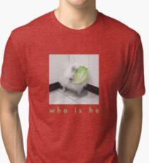 Weißer Hund als Kopfsalat-Geist Vintage T-Shirt
