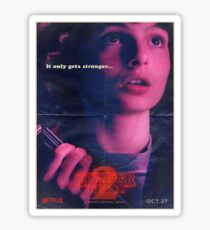 Stranger things season 2 poster Sticker