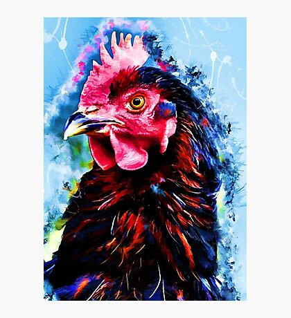 rooster art 2 #rooster #animals Photographic Print