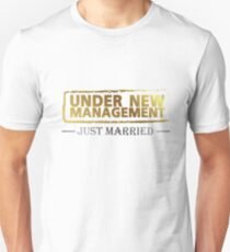 Bachelor party Groom Gift Under New Management T-Shirt