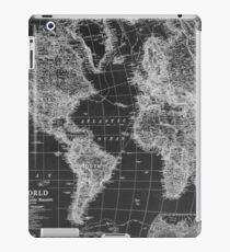 Black and White World Map (1922) Inverse iPad Case/Skin