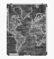 Black and White World Map (1801) Inverse iPad Case/Skin