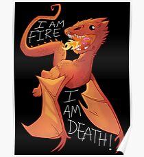 "Baby Smaug ""I am fire, I am death!"" Poster"