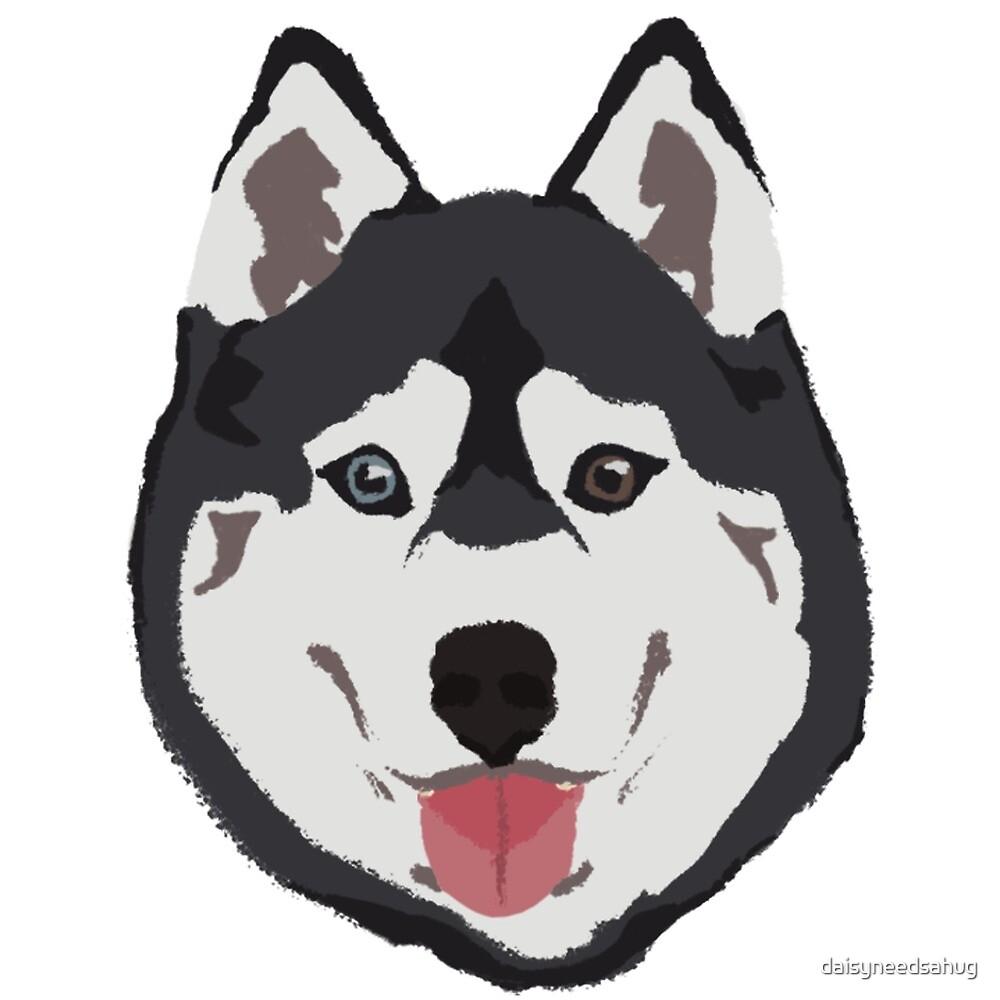 «Huski Dog - dibujado a mano» de daisyneedsahug