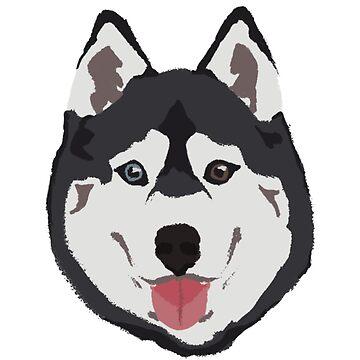 Huski Dog - dibujado a mano de daisyneedsahug