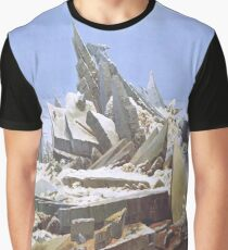 The Sea of Ice or The Wreck of Hope by Caspar David Friedrich Graphic T-Shirt