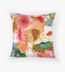 Red Abstract Painting Throw Pillow