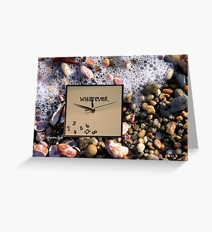 Tides Turn, Time Forever Flees Away Greeting Card