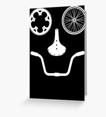 Happy Bicycle Rider Greeting Card