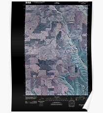 USGS TOPO Map Idaho ID Green Knob 20101207 TM Inverted Poster