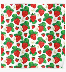 Seamless pattern with Strawberry. Poster