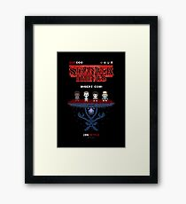 16-bit Stranger Things Framed Print
