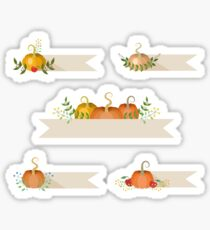 Pumpkins Holiday decorative stickers Sticker
