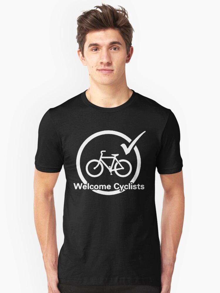Welcome Cyclists Unisex T-Shirt Front
