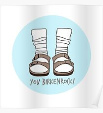 You Birkenrock Light Blue  Poster