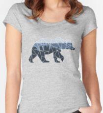 Geometric Bear Women's Fitted Scoop T-Shirt