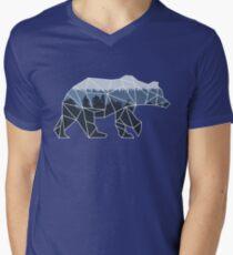 Geometric Bear Men's V-Neck T-Shirt