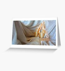 Pointe shoes on White Greeting Card