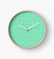 Mint Pattern Clock