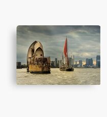 Icons of the Thames London Metal Print