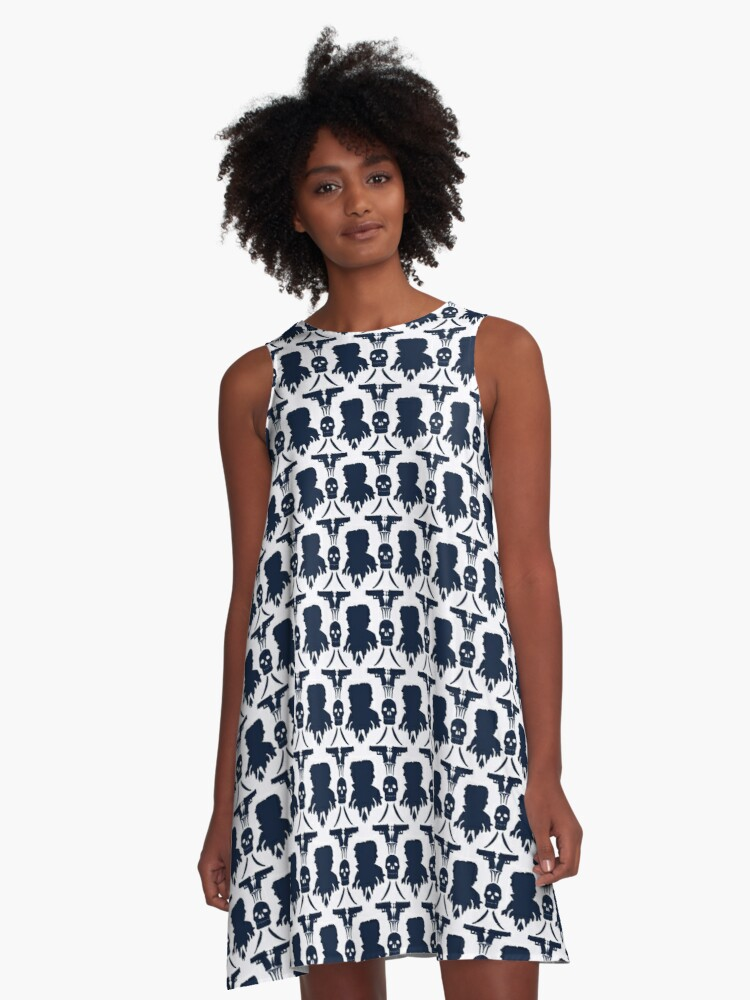 Sherlockian Inspired print A-Line Dress Front