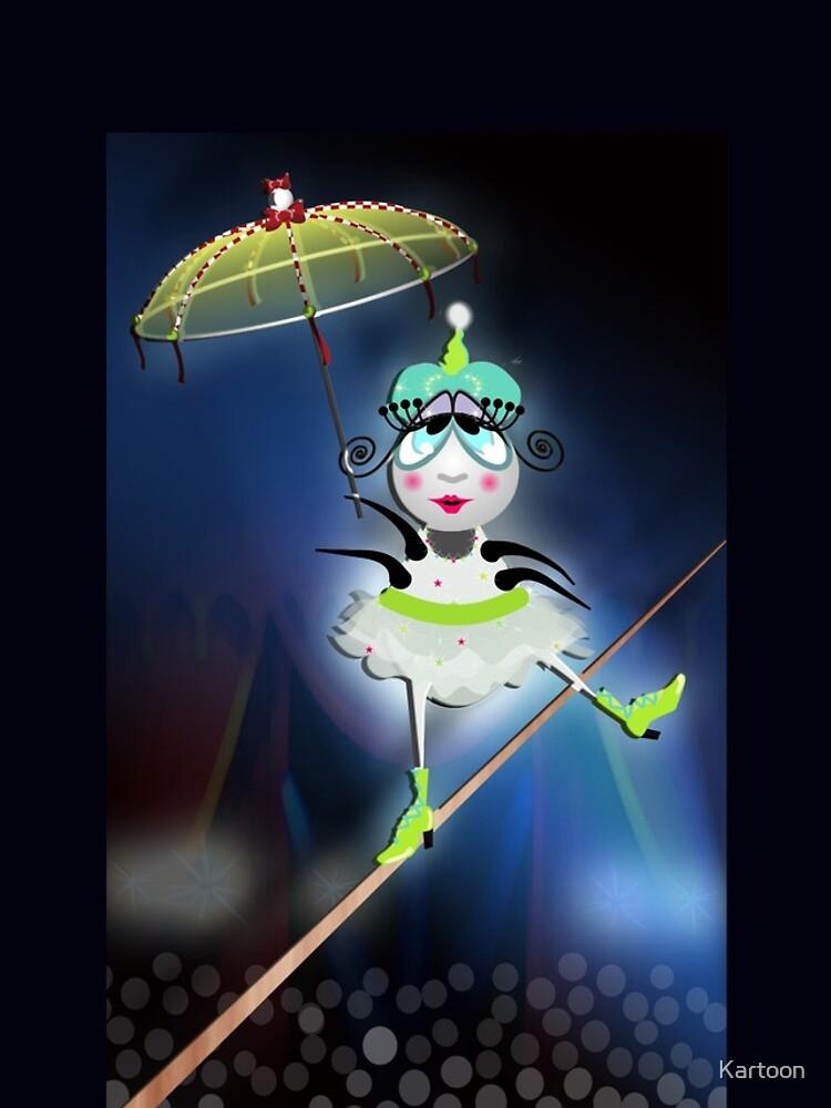 The Flea Circus - The Tightrope Walker Flea by Kartoon